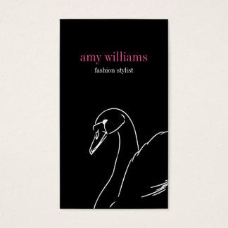 Black swan style beauty fashion elegant visit card visitenkarte