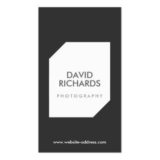 BLACK/WHITE FOTO-LOGO Fotograf-Geschäfts-Karte Visitenkarten