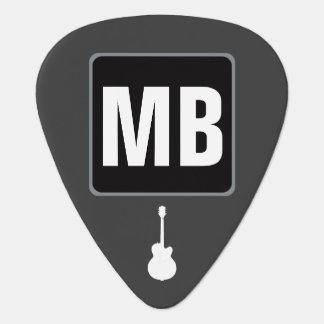 black&white Monogramm für den Gitarristen Plektrum