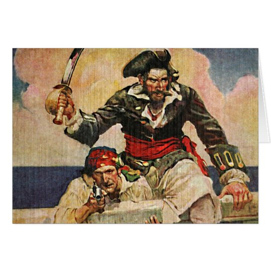 Blackbeard Buccaneer Piraten-und Mitteilungskarte