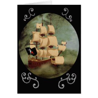 Blackbeards Anmerkungs-Karte Schiffs-(Rache der Mitteilungskarte