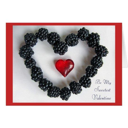 BlackBerry-Liebe-Anmerkungs-Karte Mitteilungskarte