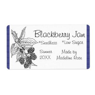BlackBerry-Marmeladen-Glas-Aufkleber (Gewohnheit)