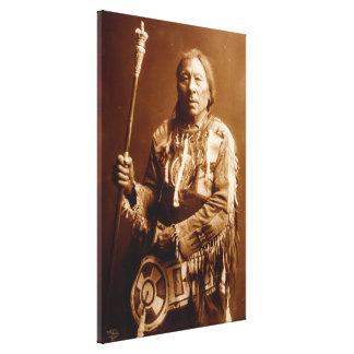 Blackfoot HauptAatsista-Mahkan Leinwand-Kunst Leinwanddruck