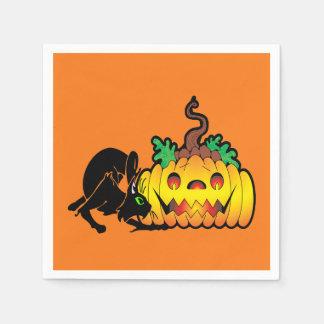 Blackjack-Halloween-Party-Papierservietten Servietten