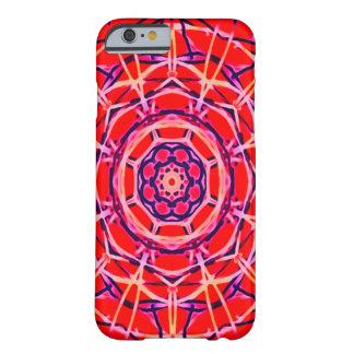Blacklight rote Mandala-spezieller Glühen iPhone 6 Barely There iPhone 6 Hülle