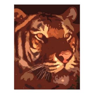 Blacklight Tiger-Gesicht Flyerdesign