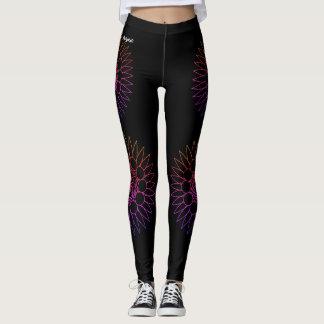 blackretro leggings