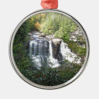 Blackwater-Fälle, West Virginia Silbernes Ornament