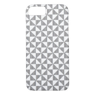 Blackwork Nadelspitzen-Block-Muster-Fall iPhone 8/7 Hülle
