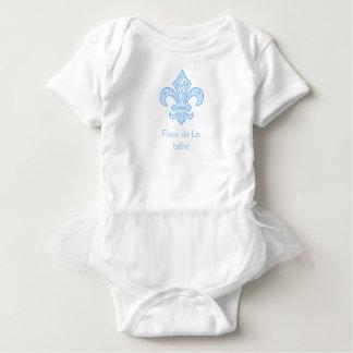 Blanc/bleu de combinaison de tutu de bébé de bébé™ body
