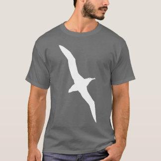 Blanc de T-shirt d'oiseau d'albatros