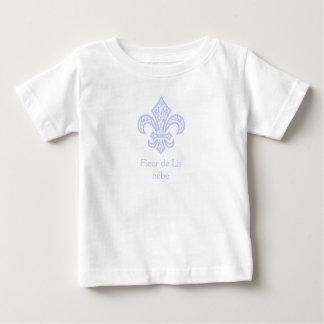 Blanc/lavande de bébé™ de Fleur de Lis T-shirt Pour Bébé