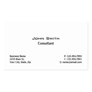 Blanc simple simple moderne élégant professionnel carte de visite standard