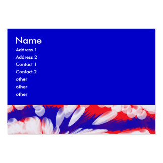 blancs et bleus rouges, carte de visite grand format