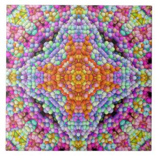 Blase-Mosaik Diamant-Stern Mandala-Fliese Große Quadratische Fliese