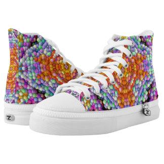 Blase-Mosaik Diamant-Stern-Mandala Hallo-Spitzen Hoch-geschnittene Sneaker