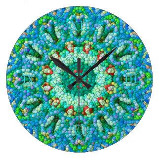 Blase-Mosaik Uhr I