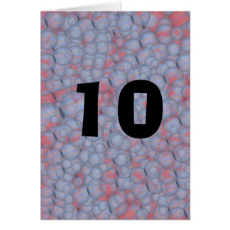 Blasen-10. Geburtstag Karte