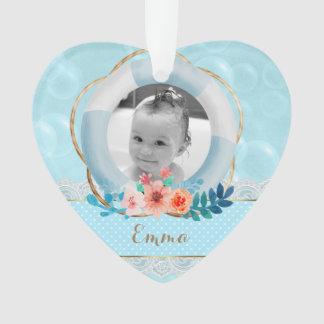 Blasen-Baby-Seepunkt-Spitze-Blumenherz Ornament