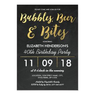 Blasen, Bier u. Biss-erwachsenes Geburtstags-Party Karte