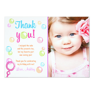 Blasen danken Ihnen, Geburtstags-Party-Mädchen zu Karte
