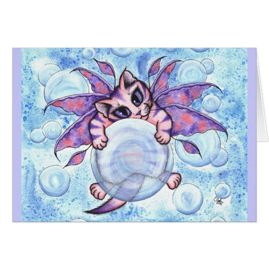 Blasen-feenhafte Grußkarte