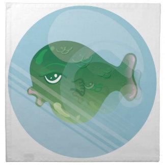 Blasen-Fische Stoffserviette