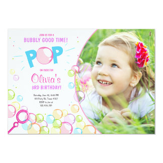 Blasen-Geburtstags-Party Einladung POP