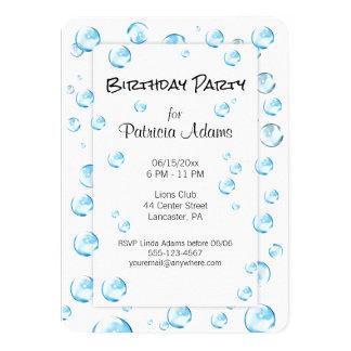 Blasen-Geburtstags-Party-Spaß-Einladung Karte
