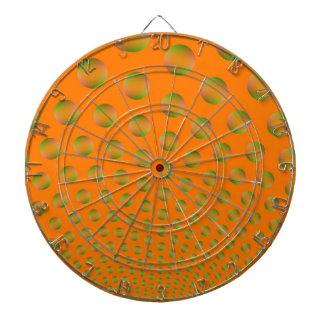 Blasen im orange und grünen Dartboard Dartscheibe