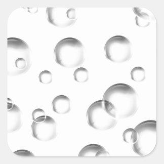 Blasen in Schwarzweiss Quadratischer Aufkleber