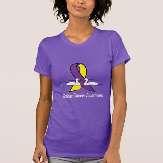 Blasen-Krebs-Bewusstsein mit Schwänen T-Shirt