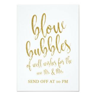 Blasen senden weg Goldvom erschwinglichen Karte