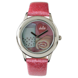 Blasentee- und -geleerollenarmbanduhr dulce armbanduhr