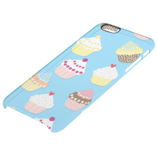 Blasse blaue Schalen-Pastellkuchen Durchsichtige iPhone 6 Plus Hülle