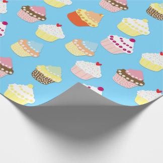 Blasse blaue Schalen-Pastellkuchen Geschenkpapier
