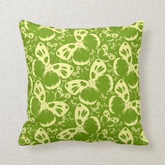 Blasse e-grün Schmetterlinge Kissen