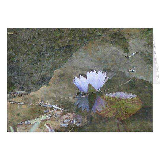 Blasse lavenday Wasserliliekarte Grußkarte