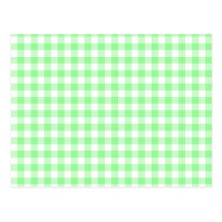 Blasser er-grün Gingham Postkarte