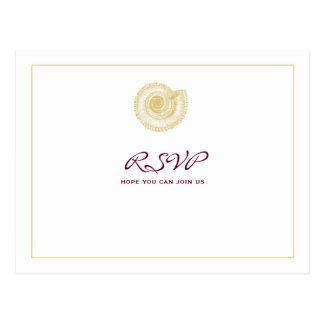 Blasses Goldseashell-Burgunder-UAWG Postkarte