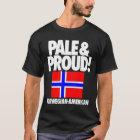 Blasses und stolzes Norwegen T-Shirt