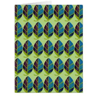 Blatt abstrakt in den multi Farben Karte