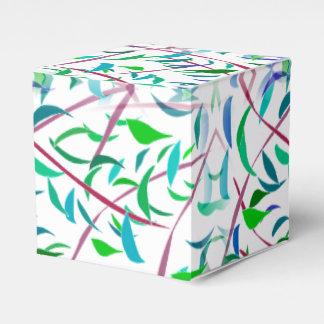 Blatt entwarf Bevorzugungs-Kasten Geschenkschachteln
