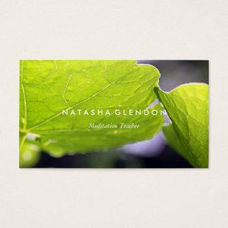 Blatt-grüne Natur-Zen-Visitenkarte Visitenkarte