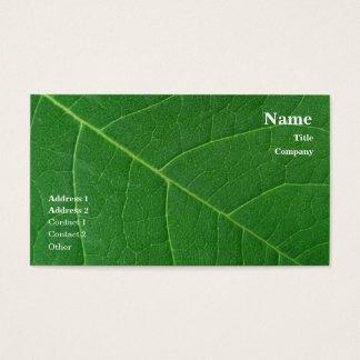 Blatt-grünes Nahaufnahme-Foto einfach Visitenkarte