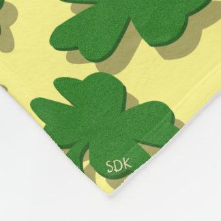 Blatt-Klee der U-Auswahl Farbgrün-viel Fleecedecke