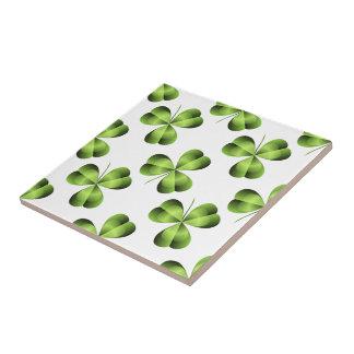 Blatt-Klee-Grafik des Kleeblatt-drei Keramikfliese