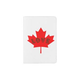 Blatt-Passhalter des Liebe-Kanada-Tagesroten Passhülle