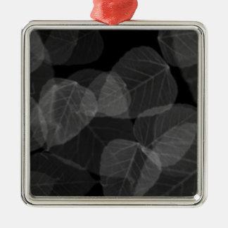 Blatt-Röntgenstrahl Silbernes Ornament